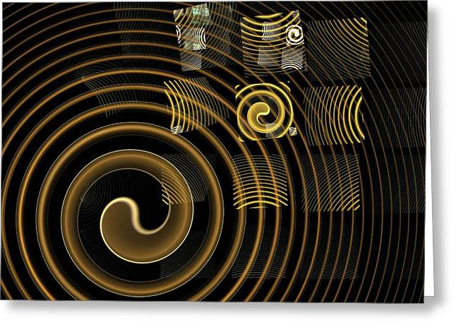 Dark Framed Prints Greeting Cards - Hypnosis Greeting Card by Oni H