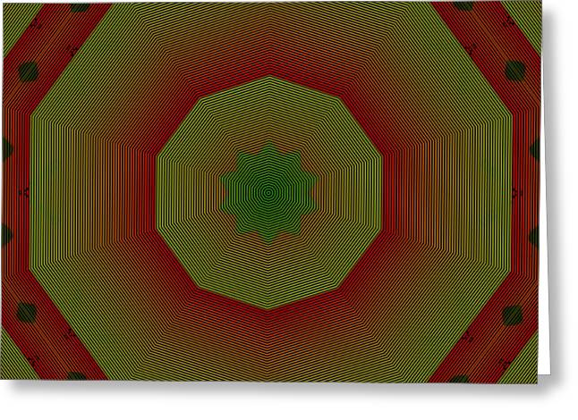 Unequal Greeting Cards - Hypnotic Greeting Card by Susana Sanchez Giraud