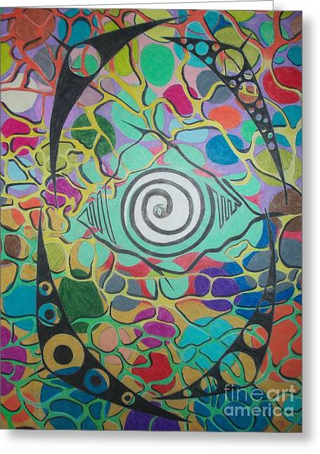 Flowing Pastels Greeting Cards - Hypnotize Greeting Card by Damion Powell