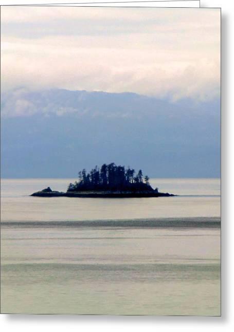 I Am A Rock I Am An Island Greeting Card by Mindy Newman