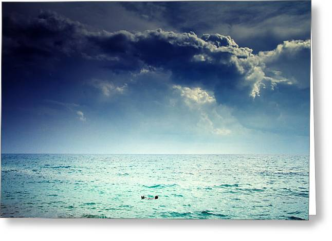 Salt Sea Greeting Cards - I Am Alone Greeting Card by Stylianos Kleanthous
