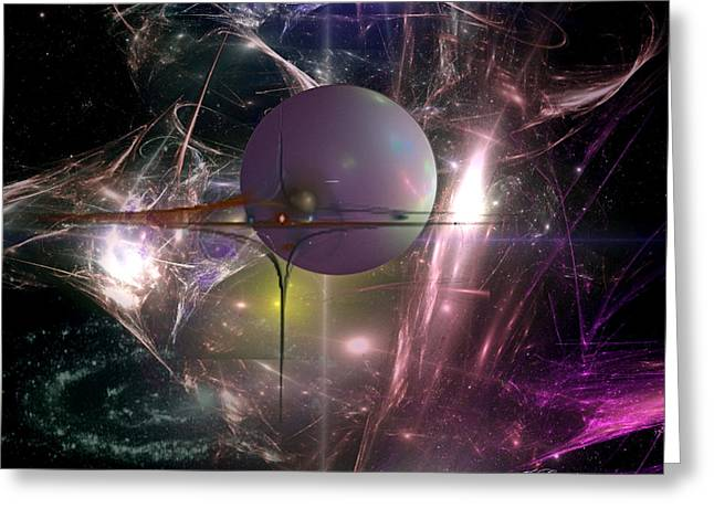 Best Sellers -  - Fractal Orbs Greeting Cards - I Am Alpha Omega Greeting Card by Jean Gugliuzza