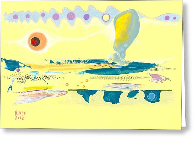 I Am Curious Yellow Greeting Card by Ralf Schulze