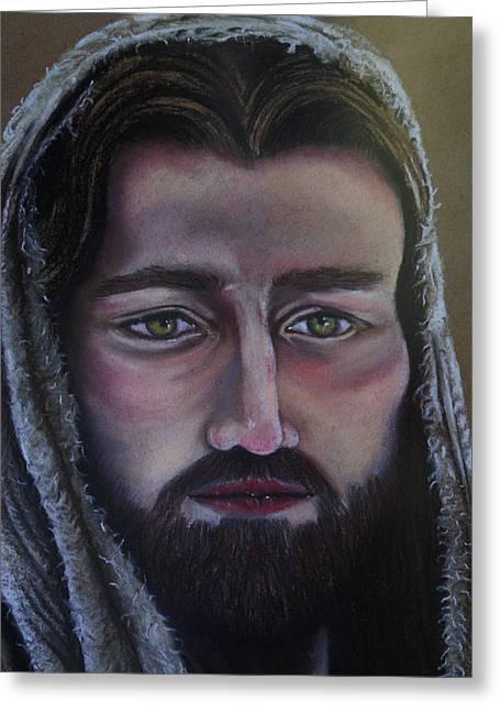 Jesus Pastels Greeting Cards - I Am He Greeting Card by Elsa Zarduz