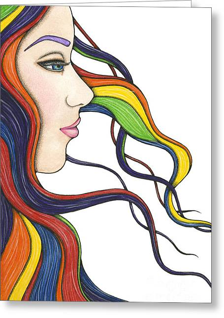 I Am My Own Rainbow Greeting Card by Nora Blansett