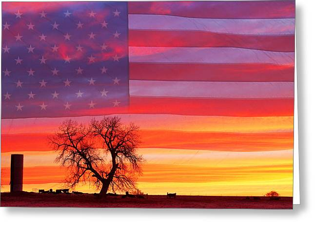 Patriot Art Prints Greeting Cards - I am Thankful To Be An American Greeting Card by James BO  Insogna
