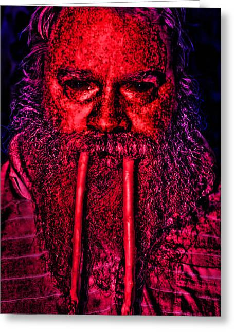 Polo Shirts Greeting Cards - I am the Walrus Greeting Card by Gregory Scott