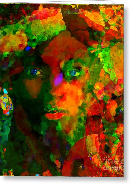 Calling Mixed Media Greeting Cards - I Am WHo I Am Greeting Card by Fania Simon