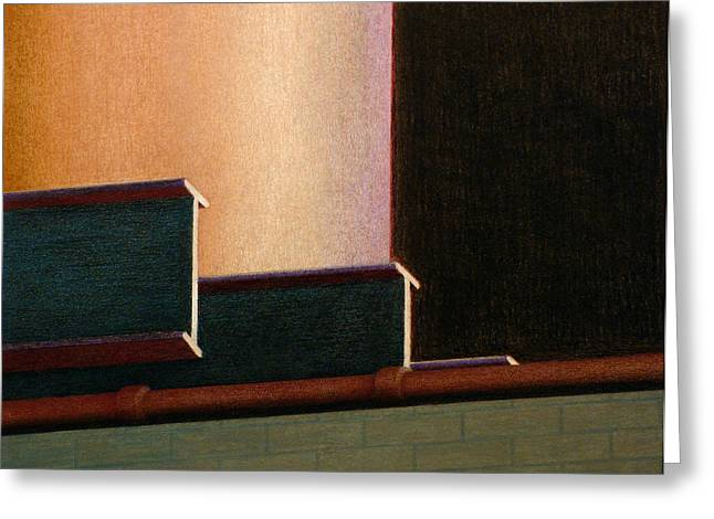 I-beam Greeting Card by Norm Holmberg