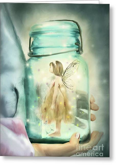 Fairy Tales Greeting Cards - I Believe Greeting Card by Stephanie Frey