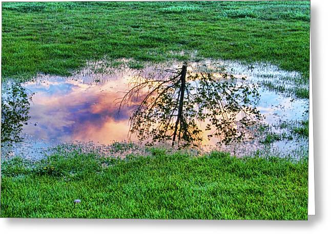 Sunset Canvas Art Greeting Cards - I can see China - Hole in the grass Greeting Card by James BO  Insogna