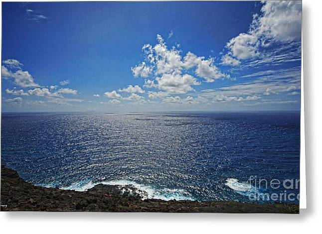 Ocean Images Greeting Cards - I Can See for Miles Greeting Card by Cheryl Young