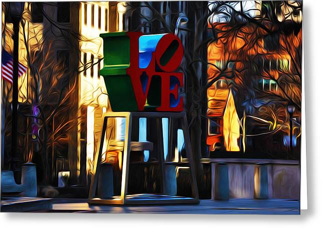John F. Kennedy Plaza Greeting Cards - I Did It For Love Greeting Card by Bill Cannon