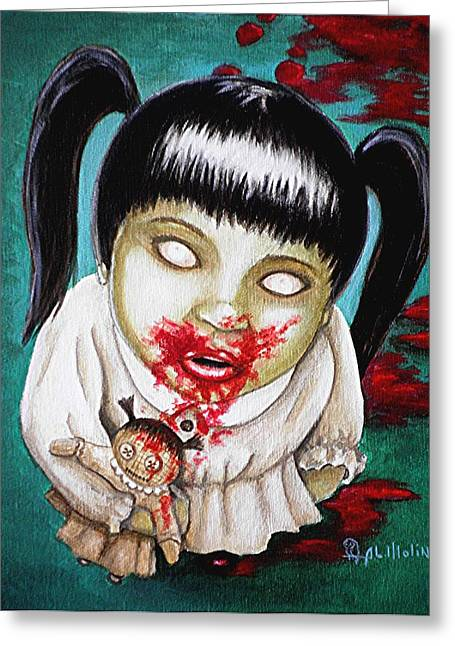 Living Dead Greeting Cards - I didnt do it Greeting Card by Al  Molina