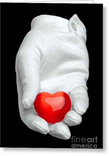 Symbolic Gesture Greeting Cards - I give you my heart Greeting Card by Richard Thomas