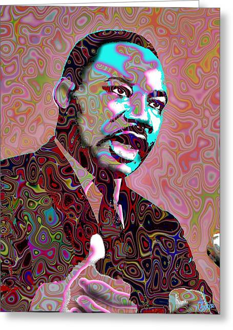Orator Digital Art Greeting Cards - I have a dream Greeting Card by Harold Egbune