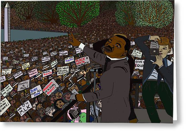 Martin Luther King Mixed Media Greeting Cards - I have a dream Greeting Card by Karen Elzinga
