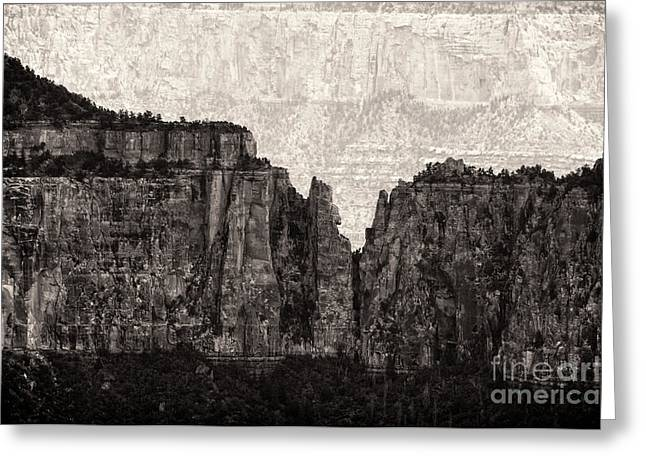 The Grand Canyon Greeting Cards - I have Climbed  a Mountain Greeting Card by Venura Herath