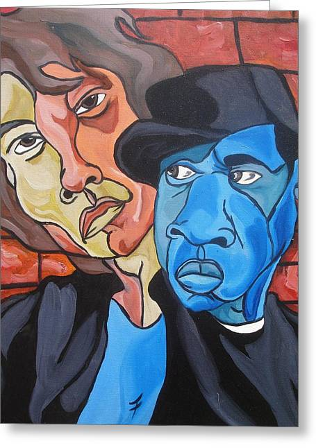 Mick Jagger Paintings Greeting Cards - I Invented Swag Greeting Card by Jason JaFleu Fleurant