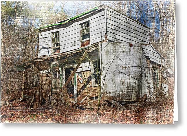 Abandoned Houses Greeting Cards - I Knew A Man Greeting Card by Kathy Jennings