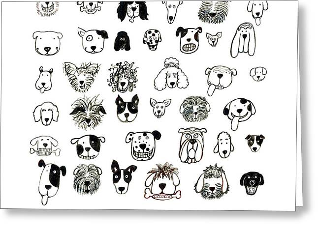Mutt Jack Greeting Cards - I Like Dogs Greeting Card by Barbara Esposito
