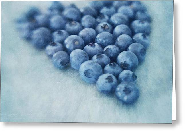 I love blueberries Greeting Card by Priska Wettstein