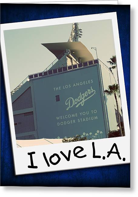 Baseball Art Photographs Greeting Cards - I Love LA Greeting Card by Ricky Barnard