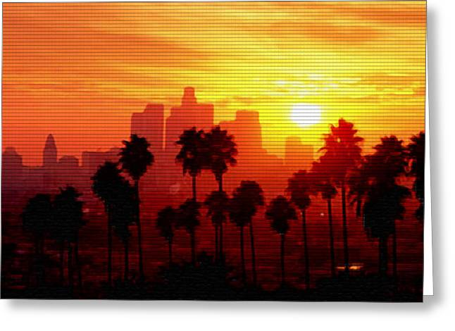 Steve Huang Greeting Cards - I Love L.A. Greeting Card by Steve Huang