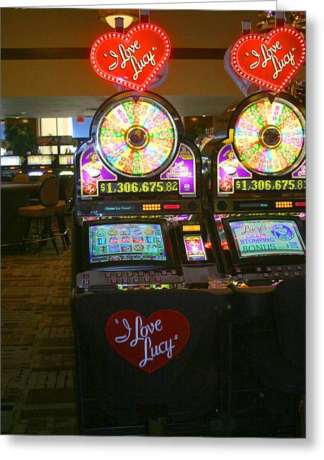 I Love Money Greeting Cards - I Love Lucy To Gamble With Greeting Card by Kym Backland