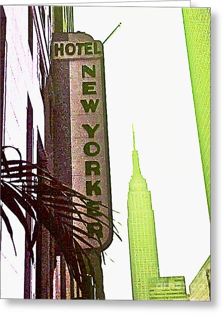I Love New York Greeting Card by Beth Saffer