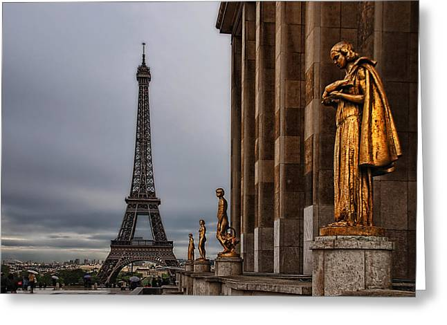 Historical Buildings Greeting Cards - I love Paris Greeting Card by Joachim G Pinkawa