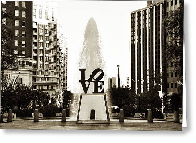 John F. Kennedy Plaza Greeting Cards - I Love Philadelphia Greeting Card by Bill Cannon