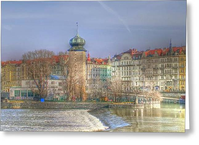 Czech Pyrography Greeting Cards - I Love Prague  Greeting Card by R K