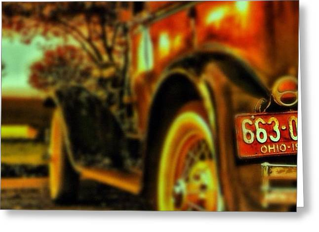 Greeting Cards - I Love This #classiccar Photo I Took In Greeting Card by Pete Michaud