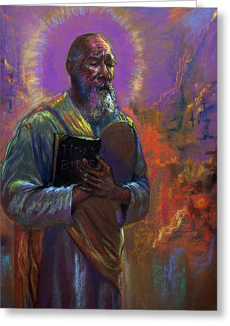 Bible Pastels Greeting Cards - I love Thy Law Greeting Card by Tommy  Winn