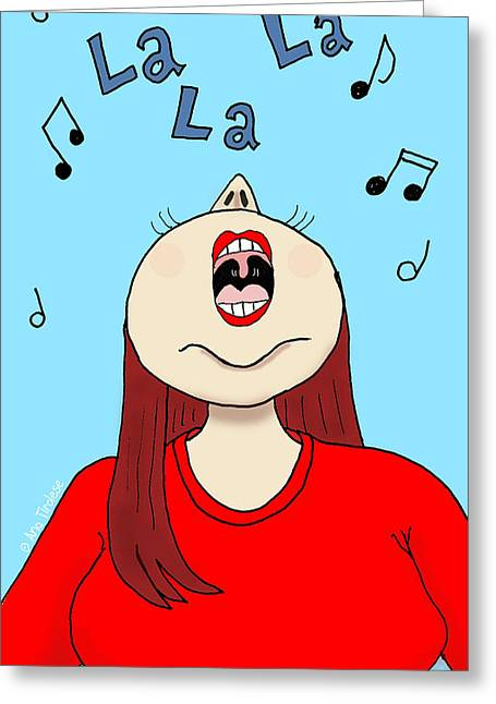 Occasion Drawings Greeting Cards - I Love to Sing Greeting Card by Ana Tirolese