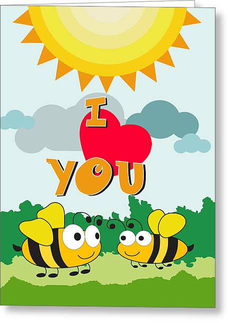 I Love You Greeting Card by Baker  Alhashki