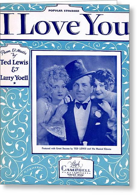 I Love You Greeting Card by Mel Thompson