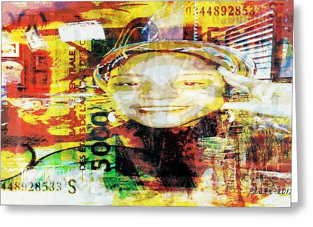 I Loved I Paid  Greeting Card by Fania Simon