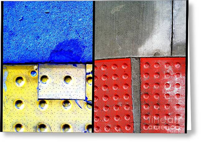 Crack In Concrete Greeting Cards - I Luv Hue Four Greeting Card by Marlene Burns
