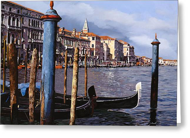 Dock Greeting Cards - I Pali Blu Greeting Card by Guido Borelli