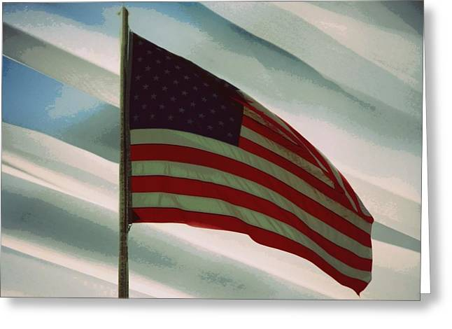 Americanism Greeting Cards - I Pledge Allegiance Greeting Card by Patricia Erwin