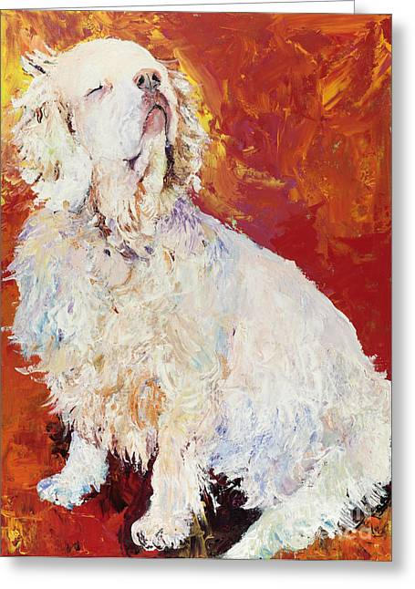 Dog Prints Greeting Cards - I Refuse Greeting Card by Pat Saunders-White