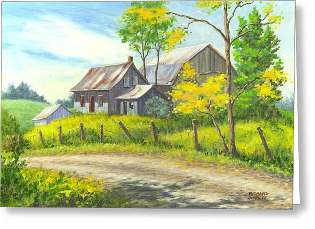 Barn Greeting Cards - I Remember When Greeting Card by Richard De Wolfe