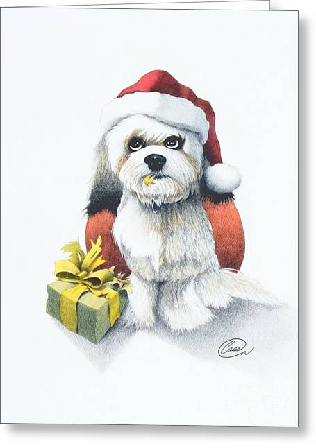 I Rove Christmas Greeting Card by Albert Casson