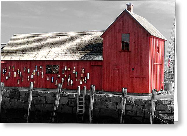 Boston Ma Greeting Cards - I Saw Red Greeting Card by Mike Greco