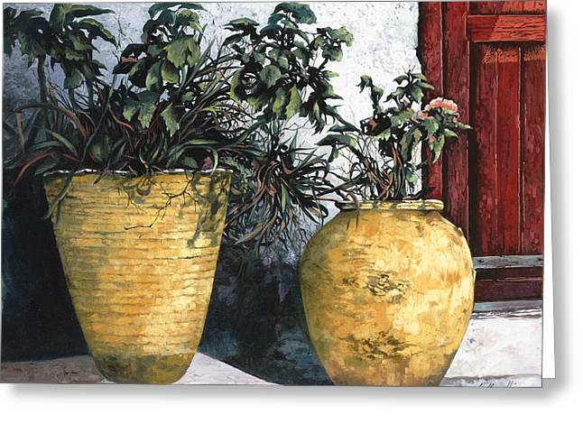 Patio Greeting Cards - I Vasi Greeting Card by Guido Borelli
