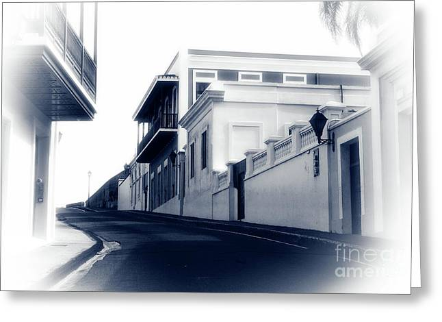 Old San Juan Greeting Cards - I Walk Alone Greeting Card by John Rizzuto