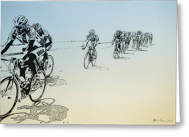 I Want Greeting Cards - I Want to Ride my Bicycle Greeting Card by Bill Cannon