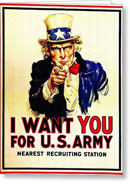 I Want Greeting Cards - I Want You Greeting Card by Bill Cannon